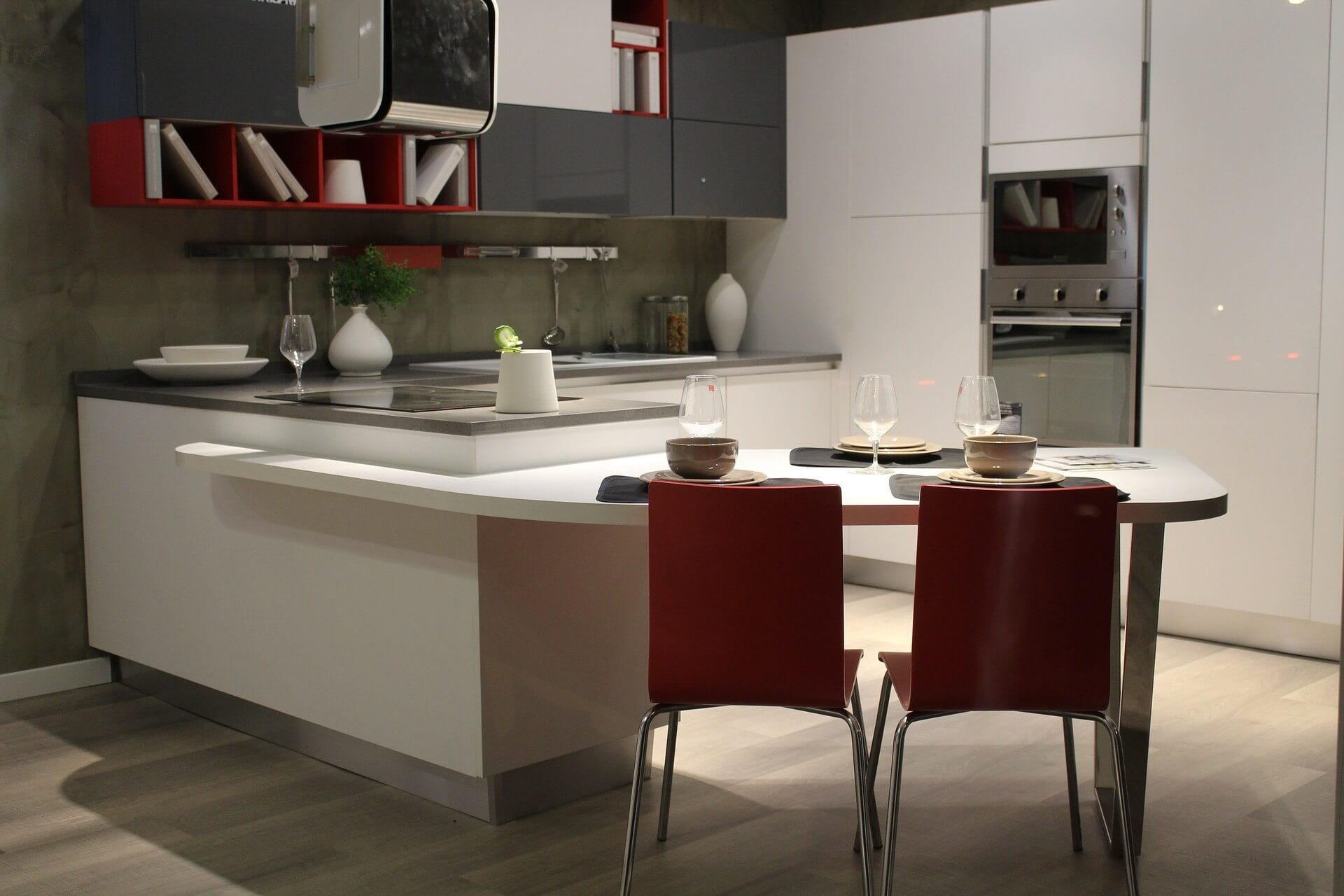 Minimalistic Practical Appartment Kitchen meant for a small family or couple