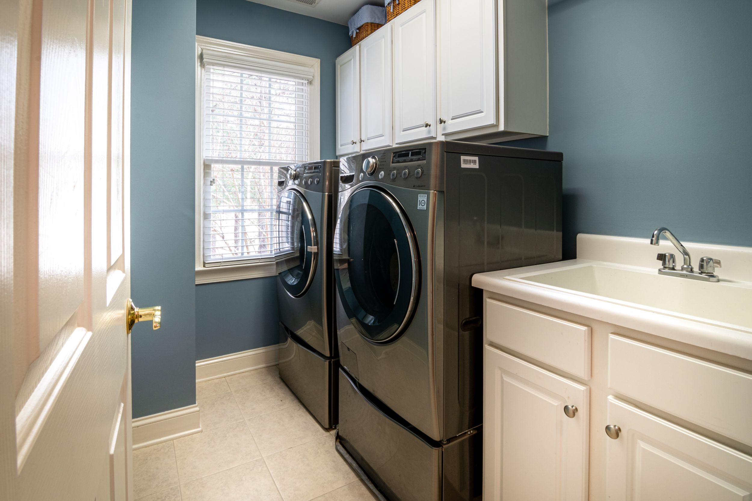Washing machine and dryer in Laundry Room Renovation